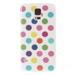 Gélové puntíkaté puzdro pre Samsung Galaxy S5- bílofarebné - 2/5