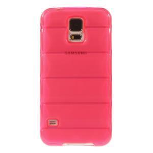 Gelové vesta pouzdro na Samsung Galaxy S5- růžové - 2