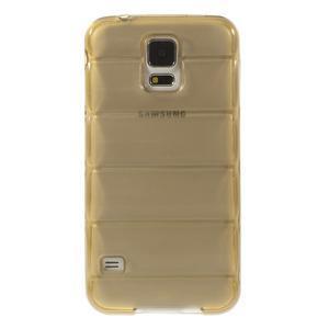 Gélové vesta puzdro pre Samsung Galaxy S5- zlaté - 2