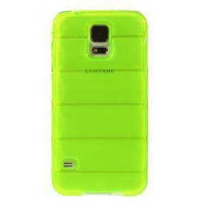 Gélové vesta puzdro pre Samsung Galaxy S5- zelené - 2