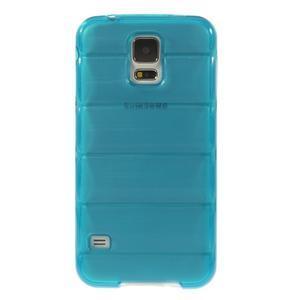 Gélové vesta puzdro pre Samsung Galaxy S5- modré - 2