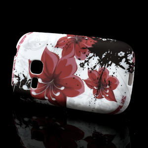 Gélové puzdro pre Samsung Galaxy Young S6310- červený kvet - 2