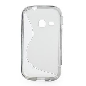 Gélové S-line puzdro na Samsung Galaxy Young S6310- šedé - 2
