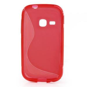 Gélové S-line puzdro na Samsung Galaxy Young S6310- červené - 2
