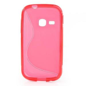 Gélové S-line puzdro pre Samsung Galaxy Young S6310- ružové - 2
