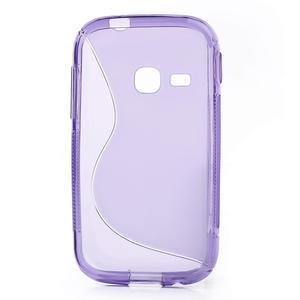 Gélové S-line puzdro pre Samsung Galaxy Young S6310- fialové - 2