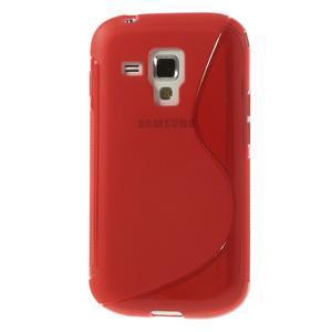 Gélové S-line puzdro pre Samsung Trend plus, S duos- červené - 2