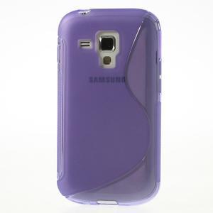 Gélové S-line puzdro pre Samsung Trend plus, S duos- fialové - 2