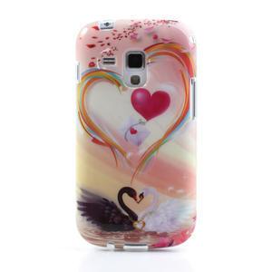 Gélové puzdro na Samsung Galaxy Trend, Duos- labutí srdce - 2