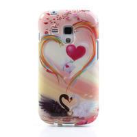 Gélové puzdro na Samsung Galaxy Trend, Duos- labutí srdce - 2/5