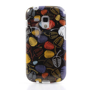 Gélové puzdro na Samsung Galaxy Trend, Duos- lístky - 2