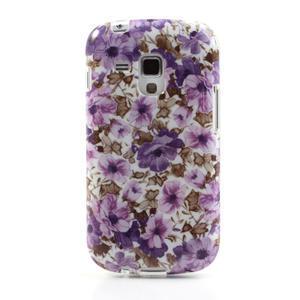 Gélové puzdro pre Samsung Galaxy Trend, Duos- fialové kvety - 2