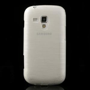 Kartáčované puzdro na Samsung Galaxy Trend, Duos- biele - 2