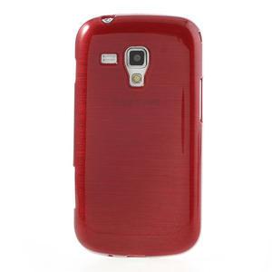 Kartáčované puzdro na Samsung Galaxy Trend, Duos- červené - 2