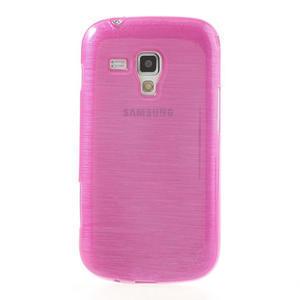 Kartáčované puzdro na Samsung Galaxy Trend, Duos- růžové - 2