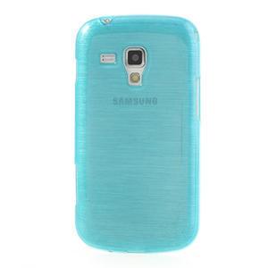 Kartáčované puzdro na Samsung Galaxy Trend, Duos- modré - 2