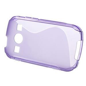 Gélové S-line puzdro pre Samsung Galaxy Xcover 2 S7710- fialové - 2