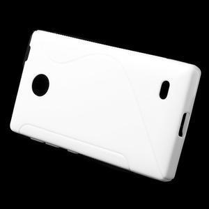 Gélové S-line puzdro na Nokia X dual- biele - 2