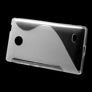 Gélové S-line puzdro na Nokia X dual- transparentný - 2