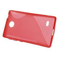 Gélové S-line puzdro na Nokia X dual- červené - 2/5