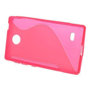 Gélové S-line puzdro na Nokia X dual- ružové - 2