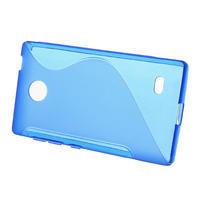 Gélové S-line puzdro na Nokia X dual- modré - 2/5