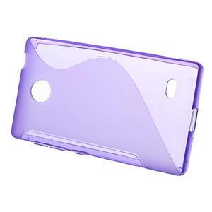Gélové S-line puzdro na Nokia X dual- fialové - 2