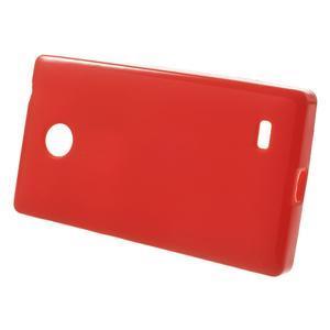 Gélové matné puzdro na Nokia X dual- červené - 2