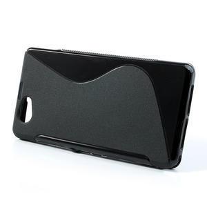 Gélové S-line puzdro na Sony Xperia Z1 Compact D5503- čierné - 2