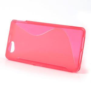 Gélové S-line puzdro na Sony Xperia Z1 Compact D5503- růžové - 2