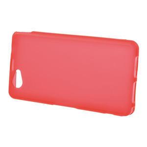 Gélové Ultraslim puzdro pre Sony Xperia Z1 Compact D5503- červené - 2