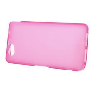 Gélové Ultraslim puzdro pre Sony Xperia Z1 Compact D5503- ružové - 2