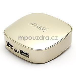Štýlová externá nabíjačka power bank 6 000 mAh - zlatá - 2
