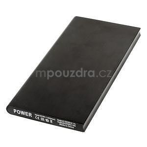 Luxusná kovová externá nabíjačka power bank 12 000 mAh - čierna - 2