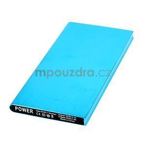 Luxusná kovová externá nabíjačka power bank 12 000 mAh - modrá - 2