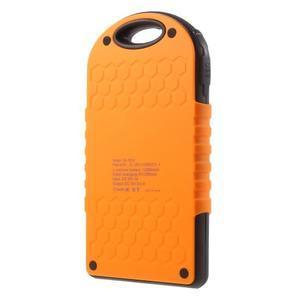 Outdoor GX vysokokapacitní externí solární nabíjačka 12 000 mAh - oranžová - 2