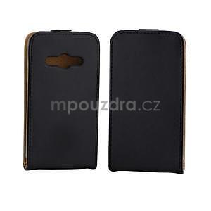 Flipové puzdro na Samsung Galaxy Xcover 3 - čierné - 2