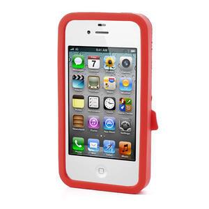Silikonové puzdro na iPhone 4 4S - sněhulák - 2