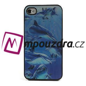 3D puzdro na iPhone 4 4S - delfín - 2