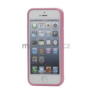 S-line hybrid puzdro pre iPhone 5, 5s- svetleružové - 2