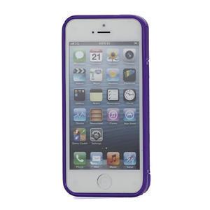 S-line hybrid puzdro pre iPhone 5, 5s- fialové - 2
