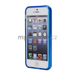 Gélové puzdro pre iPhone 5, 5s- modré - 2