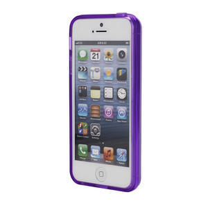 Gélové puzdro pre iPhone 5, 5s- fialové - 2