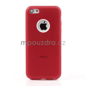 Gélové rámové puzdro pre iPhone 5C- červené - 2