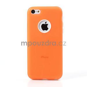 Gélové rámové puzdro pre iPhone 5C- oranžové - 2