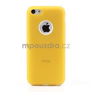 Gélové rámové puzdro pre iPhone 5C- žlté - 2