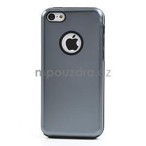 Gélové metalické puzdro pre iPhone 5C- šedé - 2