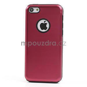 Gélové metalické puzdro pre iPhone 5C- červené - 2
