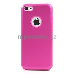 Gélové metalické puzdro pre iPhone 5C- růžové - 2
