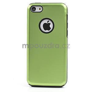 Gélové metalické puzdro pre iPhone 5C- zelené - 2